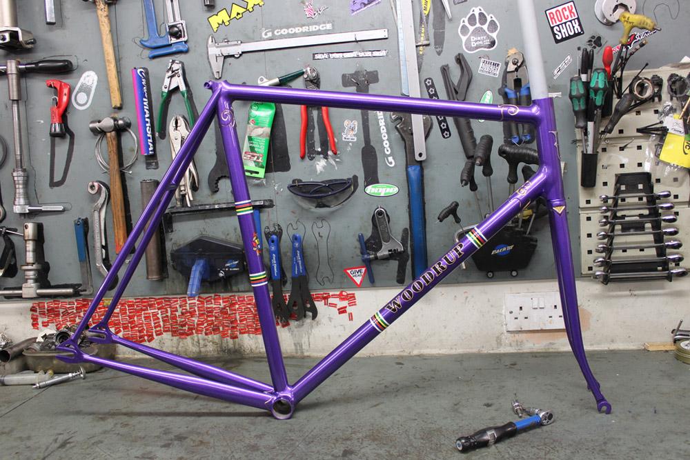 Zier-Rad: Woodrup Bilaminate Bahnrahmen   Stahlrahmen-Bikes